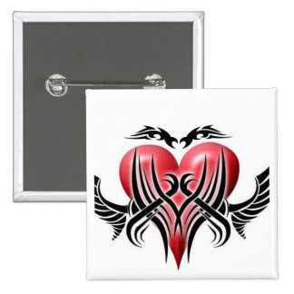 Winged Tribal Heart-Button (1)