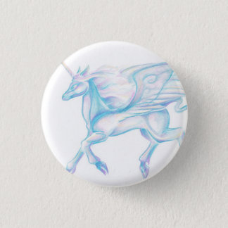 Winged Unicorn Button