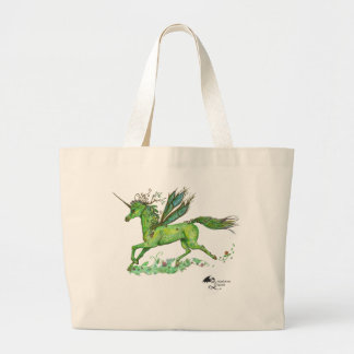 Winged Unicorn Pegacorn Pegasus Winged Horse Large Tote Bag