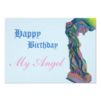 Winged victory birthday card