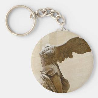Winged Victory of Samothrace Basic Round Button Key Ring