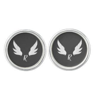 Winged White Monogram | Cufflinks