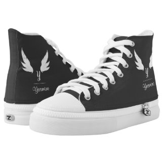 Winged White Monogram | High Top Shoes