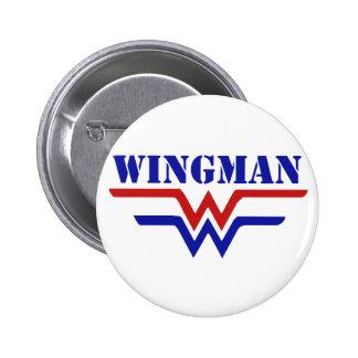 Wingman Single guy party 6 Cm Round Badge