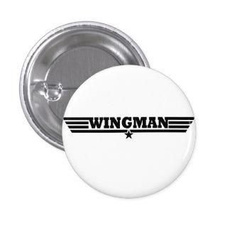 Wingman Wings Logo 3 Cm Round Badge