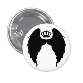 Wings and Crown Flair 3 Cm Round Badge