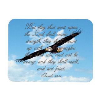 Wings as Eagles, Isaiah 40:31 Christian Bible Rectangular Photo Magnet