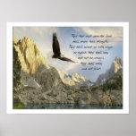 Wings As Eagles Isaiah 40:31 Poster