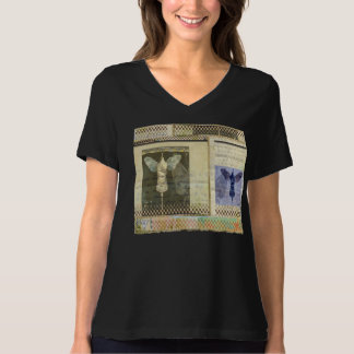 Wings-Aviation 8 Bella Relaxed Fit,V-Neck T-Shirt