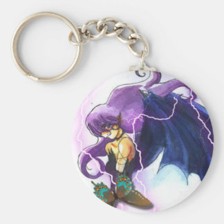 Wings dragoon basic round button key ring