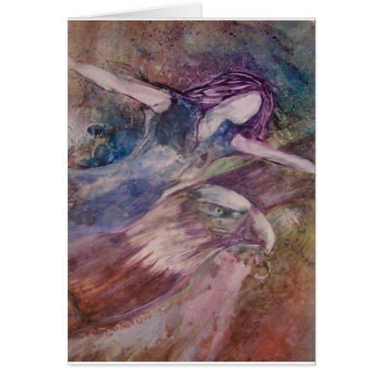 Wings Like Eagles Greeting Card