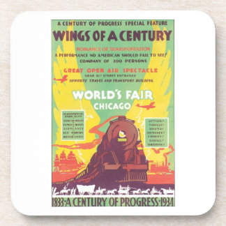 Wings of A Century Chicago World's Fair Drink Coaster