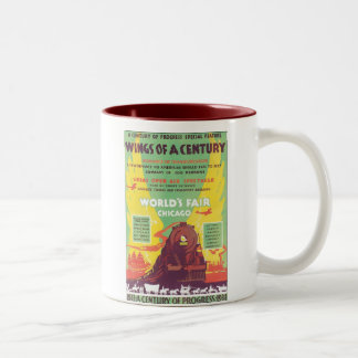 Wings of A Century Chicago World's Fair Two-Tone Coffee Mug