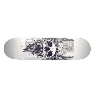Wings Of Death Skateboard Tattoo Design