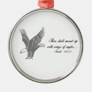 Wings of Eagles Silver-Colored Round Decoration