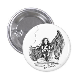 Wings of freedom 3 cm round badge