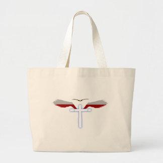 Wings of Holy Cross Jumbo Tote Bag