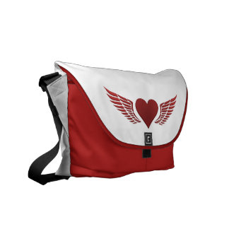 Wings of Love custom messenger bag