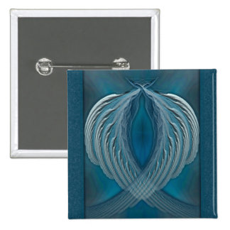 Wings of Peace Abstract Art 15 Cm Square Badge