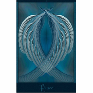 Wings of Peace Abstract Art Photo Sculpture Badge