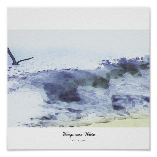 Wings over water | Watercolour Poster