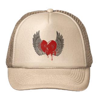 Wings Splattered Cap Mesh Hat