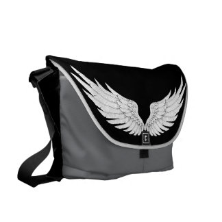 WINGS WITH MONOGRAM COURIER BAGS