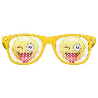 Wink Happy Emoji Face Tongue Out Party Glasses