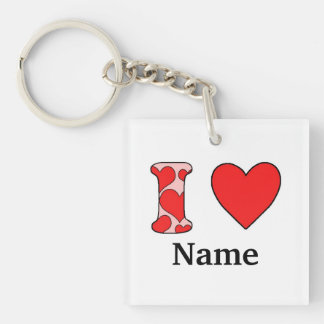 Wink i love costomized Single-Sided square acrylic key ring