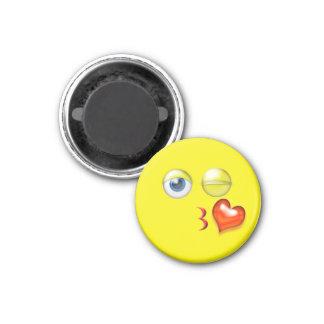Wink Kiss Emoji Magnet