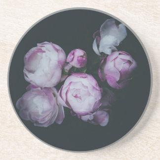 Wink Rose Buds dark background Coaster