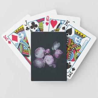 Wink Rose Buds dark background Poker Deck