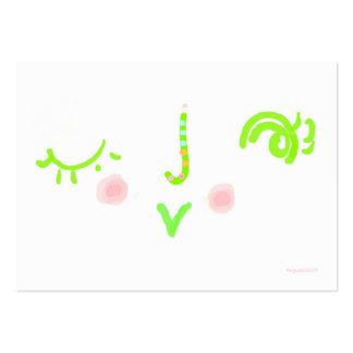 wink tiny valentine business card templates