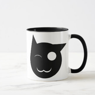 Winking Black Cat Cup