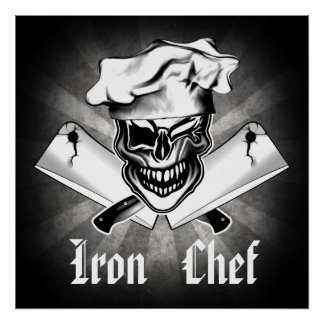 Winking Chef Skull 1: Iron Chef Poster