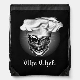 Winking Chef Skull Cinch Bag