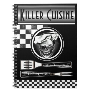 Winking Chef Skull Notebook