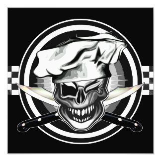 Winking Chef Skull Photo Print