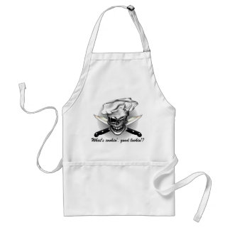 Winking Chef Skull Standard Apron