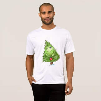 Winking Christmas Tree Mens Active Tee