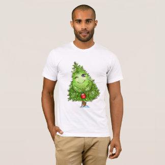 Winking Christmas Tree Mens T-Shirt