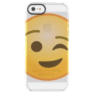 Winking Emoji Clear iPhone SE/5/5s Case