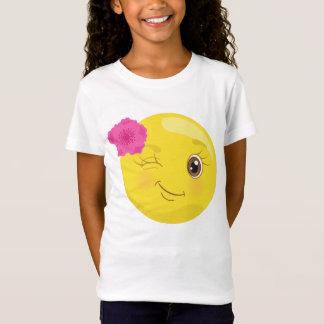 Winking Floral Emoji T-Shirt