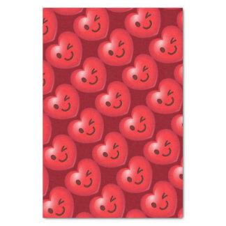WInking Heart Emoji Tissue Paper