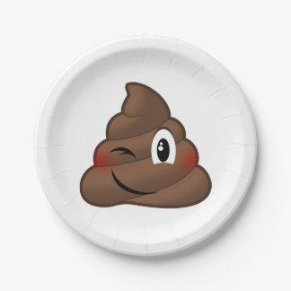 Winking Poop Emoji Paper Plate