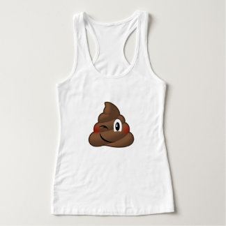 Winking Poop Emoji Singlet