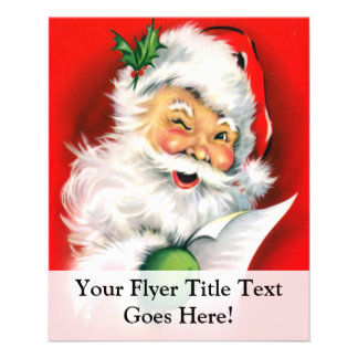 Winking Santa Christmas List Flyer