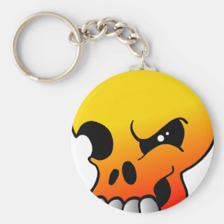 Winking Skull Flame Keychain