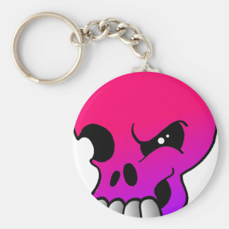 Winking Skull Purple Doom Keychain