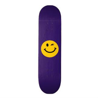 Winking smiley face 21.6 cm skateboard deck